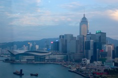 Hong Kong Island, from the carousel.