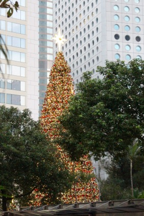 Christmas tree on Hong Kong Island, near the city hall.