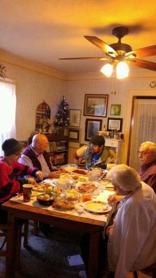 A Christmas meal.