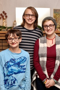 Joe, Luke, and Anna.