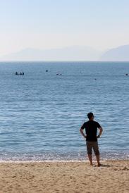 J at the seashore.