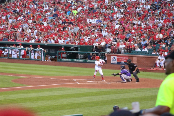 Kolton Wong at bat. He hit a double on this swing.