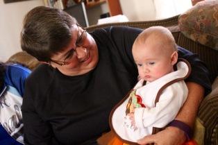 Karen with her granddaughter.