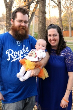 Blayne and Sarah with their daughter.