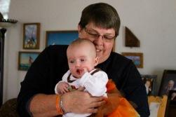 My sister Karen, the grandmother.
