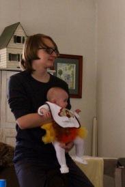 Nephew Luke with baby Lily.
