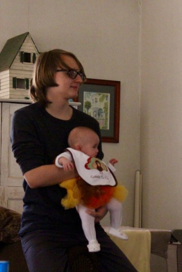 Nephew Luke with baby Lily.