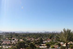 Modern downtown Phoenix from the solarium.