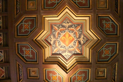 Painted ceiling in day room.