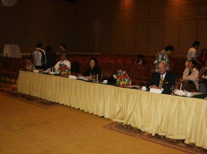 At the jury table.