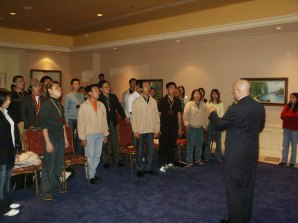 Working with a Philippine choir.