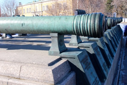 Cannons salvaged from Napoleon's invation