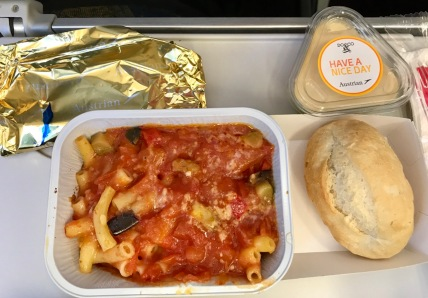 Lunch on the last flight was not nearly as appealing as the international flights, but was still better than a soggy sandwich.