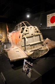 The remnants of a Japanese fighter from WWII.