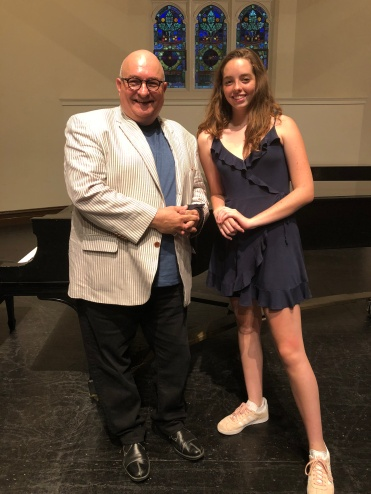 With Isabella, a junior at Burroughs.