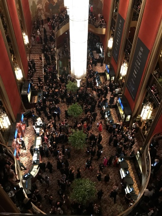 The view of the lobby before the show.