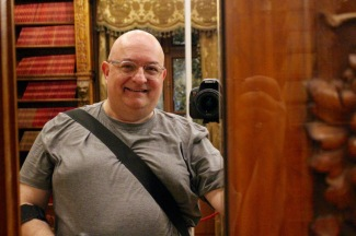 """""""Selfie for 57."""" A selfie-in-a-mirror from the Hofmobiliendepot on Tuesday."""