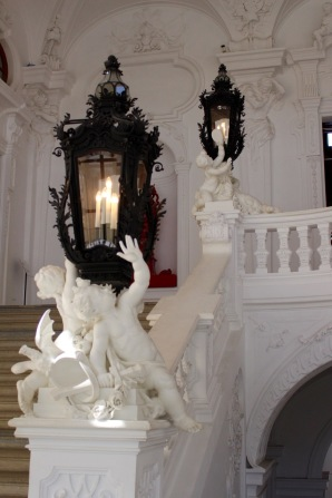 Details of lanterns on the grand staircase.