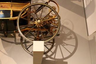 Detail of children's carriage wheel.