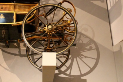 Detail of children's carriage wheel.