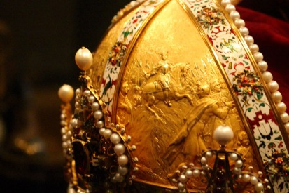 Detail, Habsburg hereditary crown. Prague, 1602.