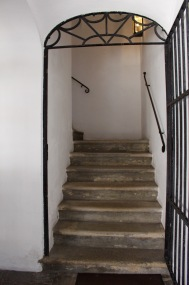 Schubert climbed these stairs every day. I climbed them too.