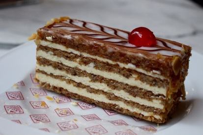 Esterhazy torte!!! My favorite. I finally had one on my 10th day in Austria.