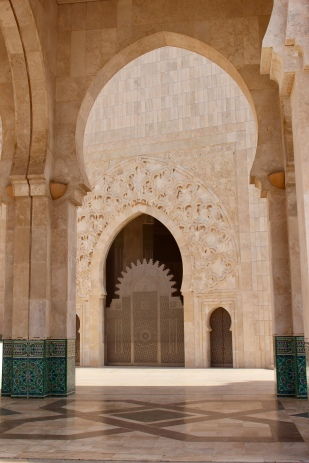 One of the entrance door.