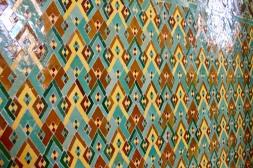 Detail of ceramic tile on wale.