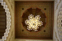 Ceiling over the east end, reserved for daily prayers. That ceiling painted and gilded.