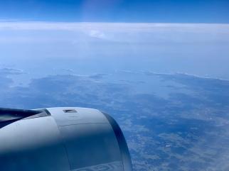 The coast of Spain as we near the Atlantic.