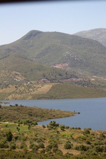 A reservoir on the east side of the Rif Mountains.