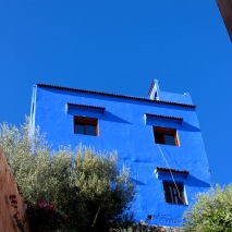 The paint's pigment is as blue as the sky.