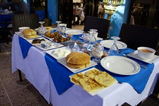Iftar meal set for customers.