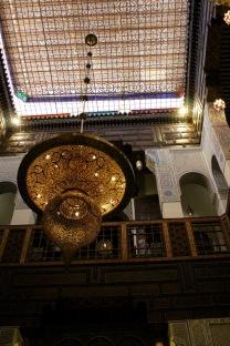 Restaurant chandelier.