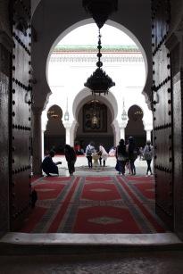A peek inside the Sidi Ahmed al-Tijani Zawiya.