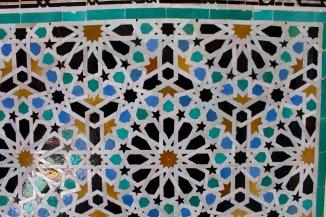Detail, ceramic tile.
