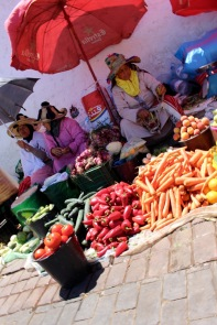 Berber ladies selling their veggies.