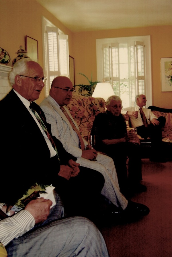 Honoring Dr. Eloise Jarvis at the Sargent home in 2009.